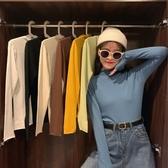 促銷九五折 半高領套頭長袖針織衫女秋季新款韓版網紅修身顯瘦打底衫上衣