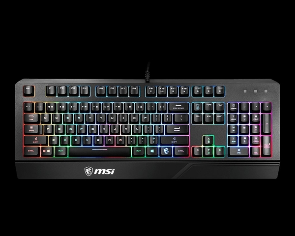 微星MSI VIGOR GK20 GAMING KEYBOARD 弧形人體工學RGB鍵盤