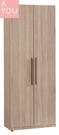 凱文2.3尺淺灰橡單抽衣櫃(大台北地區免運費)【阿玉的家2020】