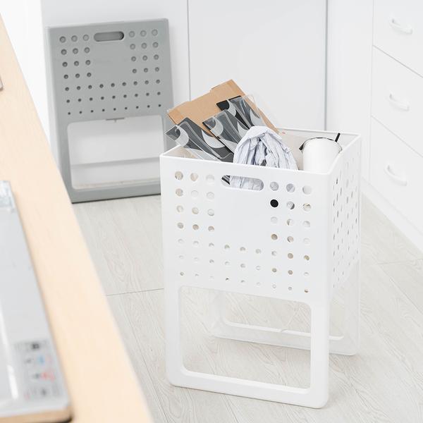 樂嫚妮 多功能可提折疊收納籃/置物籃/洗衣籃
