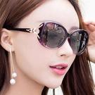 防曬偏光眼鏡女 明星款太陽鏡圓臉 太陽眼鏡狐貍頭墨鏡《蓓娜衣都》