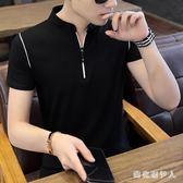短袖POLO衫t恤男韓版潮流修身上衣服男士打底體恤半袖夏裝 QX4283 【棉花糖伊人】
