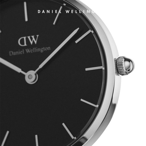 Daniel Wellington DW 手錶 32mm銀框 Classic Petite 純真白真皮皮革錶