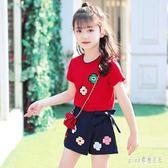 女童夏裝2019新款時髦套裝網紅洋氣女孩衣服兒童 aj8363『pink領袖衣社』