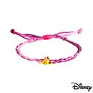 Disney迪士尼系列金飾 黃金/彩色蠟繩手鍊-俏麗美妮款
