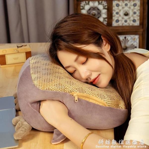 夏季午睡枕趴睡枕辦公室午睡神器小學生午休枕頭趴桌上睡覺趴趴枕 科炫數位