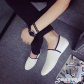 夏季編織鞋豆豆鞋男新款韓版百搭個性潮流男鞋社會小伙懶人鞋