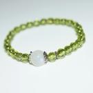 【喨喨飾品】月光石/橄欖石 能量手鍊N388