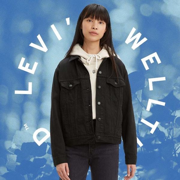 Levis Wellthread環境友善系列 女款 牛仔外套 / 創新棉化寒麻纖維 / 全一色精工海浪刺繡