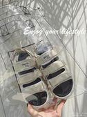 內增高涼鞋 平底百搭簡約韓版港味復古