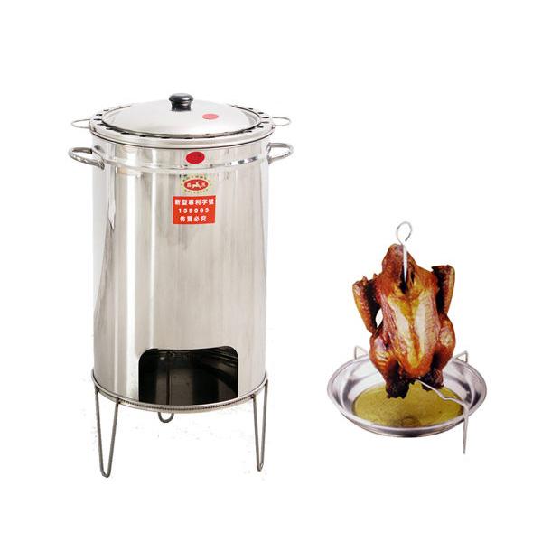 桶仔雞【G0006】不鏽鋼高級304桶子雞爐加厚款/煮火鍋燉雞湯/烤肉架/烤雞/烤肉爐MIT台灣製 完美主義