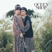 Queen Shop【01084785】多圖樣印花雪紡長洋裝 兩色售*現+預*