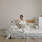 長絨棉 床包枕套組 單人【萊姆格格】色織雙層紗 自由混搭 翔仔居家