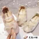 韓版學生鞋奶奶鞋蝴蝶結平底仙女新款軟皮軟底豆豆公主鞋女童單鞋 星際小鋪