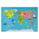 Hello Kitty 環遊世界拼圖 C678072/一個入(定150) 80片世界地圖拼圖 世界拼圖 世一 台灣製造