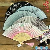 日式中國風女式絹扇櫻花和風工藝古風折疊小扇LY3888『愛尚生活館』
