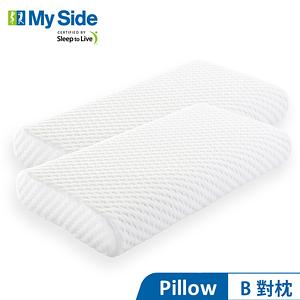 美國 My Side 人體工學記憶枕 B(中) 對枕
