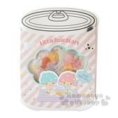 〔小禮堂〕雙子星 罐頭造型果凍透明貼紙組《粉綠》裝飾貼.黏貼用品.包裝禮物 4901610-00033