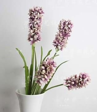 [協貿國際]客廳落地擺放高歐式風信子高檔仿真花假花裝飾花紫羅蘭家居擺設1束入
