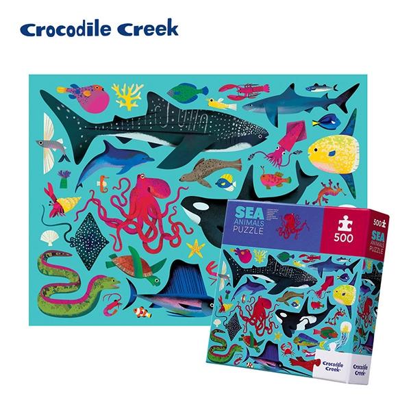 《美國Crocodile Creek》家庭主題拼圖-海洋動物