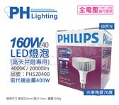 PHILIPS飛利浦 LED 160W 4000K 自然光 70度 E40 全電壓 IP40 天井燈專用燈泡 _ PH520400