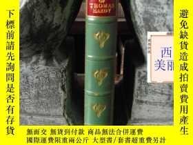 二手書博民逛書店1931年版《哈代詩選集》皮面精裝罕見竹節書脊 Chosen P