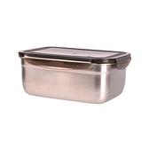 司耐扣304不鏽鋼長型保鮮盒  2000ml