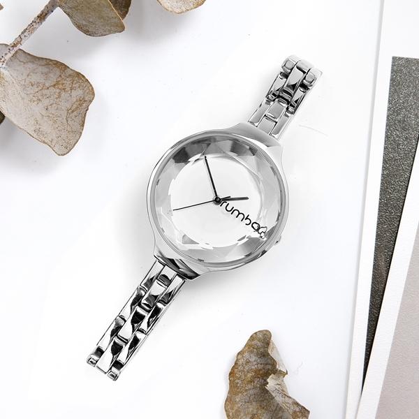 rumba time / RU27976 / Orchard Gem Bracelet 紐約品牌 切割玻璃鏡面 日本機芯 不鏽鋼手錶 銀色 30mm