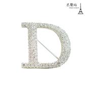 【巴黎站二手名牌專賣店】*現貨*Christian Dior 真品*品牌字母D字胸針