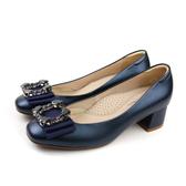 HUMAN PEACE 跟鞋 低跟 粗跟 藍色 女鞋 62711 no266
