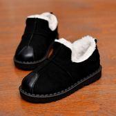 兒童雪地靴秋冬短靴新款男童女童保暖棉靴寶寶冬季加絨棉鞋雪地靴 一條街