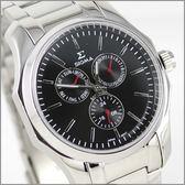 【萬年鐘錶】SIGMA日系 三眼時尚錶 1018M-1R
