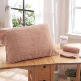 HO KANG 抗菌防螨枕巾-咖啡色 2入