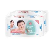 嬌生嬰兒溫和潔膚柔濕巾 - 80片2包組 [屈臣氏限定]