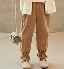 女童長褲 燈芯絨褲子春加絨加厚外穿洋氣寬鬆褲時尚兒童休閒冬季長褲【快速出貨八折下殺】