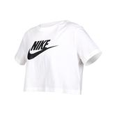 NIKE 女短袖T恤(純棉 慢跑 休閒 上衣 短版≡體院≡ BV6176-100