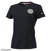 MIZUNO 女裝 短袖 T恤 休閒 吸汗速乾 抗紫外線 黑【運動世界】32TA120509