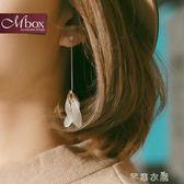花瓣耳環女韓國氣質長款吊墜個性簡約百搭耳釘耳線超仙耳飾品耳墜      芊惠衣屋