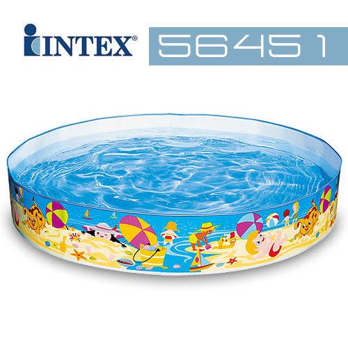 【美國 INTEX】戲水系列-海濱假日免充氣泳池/戲水池/游泳池 56451
