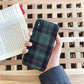 🍏 iPhoneXs/XR 蘋果手機殼 秋冬經典聖誕格子 棉麻軟殼  iX/i8/i7/i6sPlus