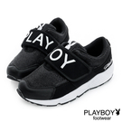 PLAYBOY 黑白潮流~PLAYBOY寬版帶休閒鞋-黑