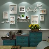 創意小鳥牆貼相框組合 小牆面實木照片牆相框牆客廳掛牆HRYC 【免運】