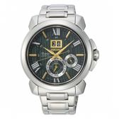 SEIKO Premier 廣告款人動電能自動追時萬年曆腕錶/7D56-0AF0G/SNP155J1