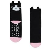 腳底止滑中筒襪 無痕接縫 0-10歲 台灣製造 法國鬥犬 瓦拉襪子 (嬰幼兒/兒童/寶寶/小孩/小朋友)