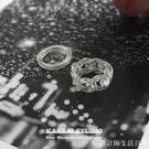 KANSAI新款人魚姬麻花指環亞克力透明鏈條戒指歐美時尚個性手飾品 設計師生活百貨