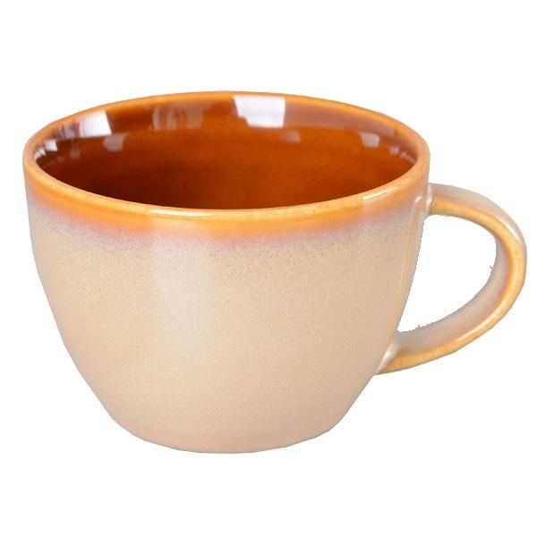 【Luzerne】陸升瓷器 Rustic 茶杯 249ml-白褐色  /RT1407133