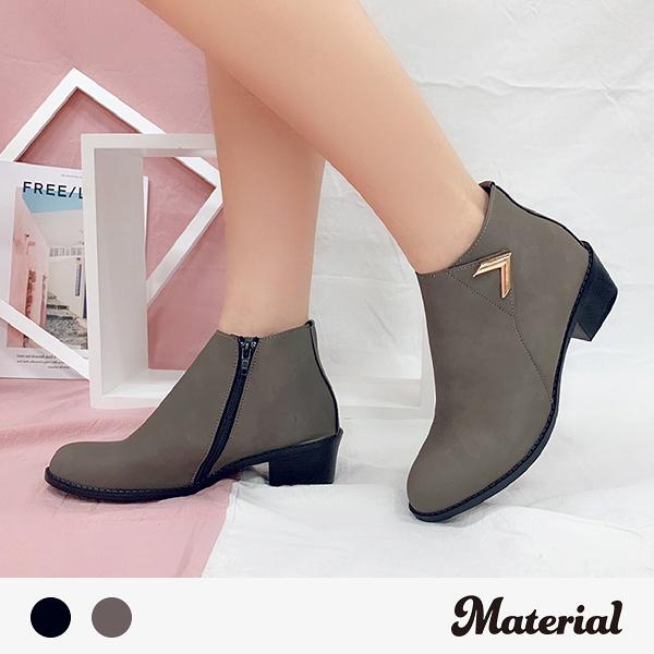 短靴 金屬側裝飾短靴 MA女鞋 T7823