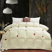 羽絨被 寢具-加厚輕盈全棉白鵝絨雙人棉被3色72aa11【時尚巴黎】