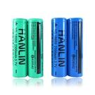 【HANLIN】兩入送電池盒 BSMI認證 18650 鋰電池 2300mAh 充電電池 平頭尖頭凸點電池