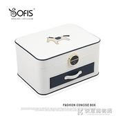 Sofis小馬多層大首飾盒首飾收納盒耳環盒飾品收納盒帶鎖帶鏡韓國快意購物網